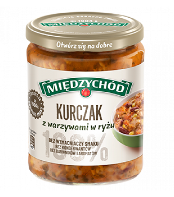 MIEDZYCHOD Chiken and Vegetables in Rice - 500g (exp. 10.01.22)