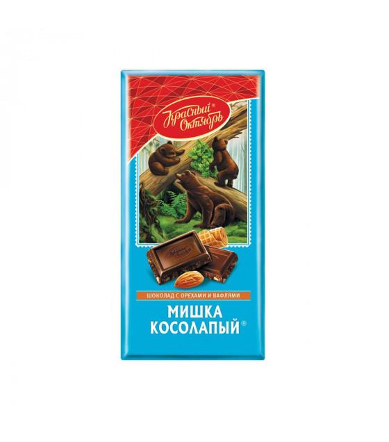 "Chocolate ""Mishka Kosolapy"" with almonds and waffle crumbs - 75g (exp. 08.11.19)"