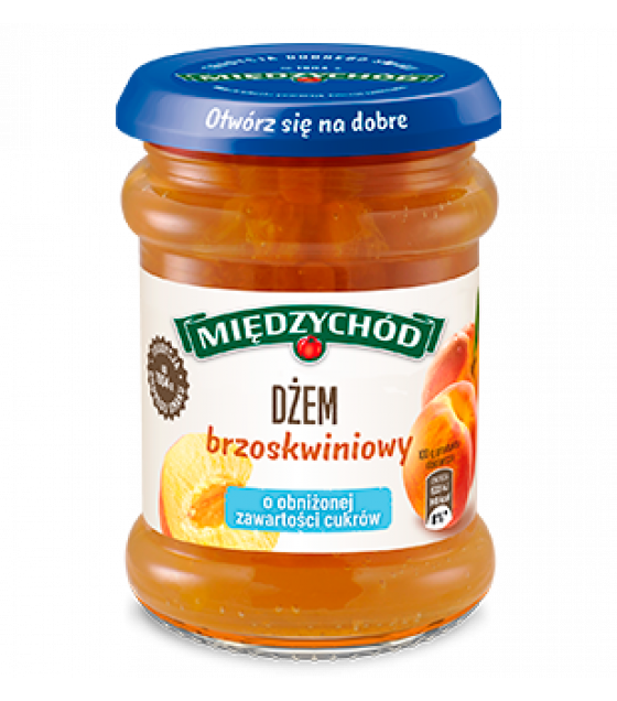 MIEDZYCHOD Peach Jam Low Sugar - 275g (exp. 18.11.20)