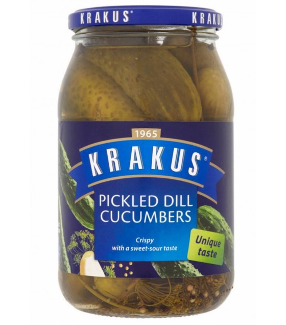KRAKUS Pickled Dill Cucumbers - 670g (best before 01.11.22)