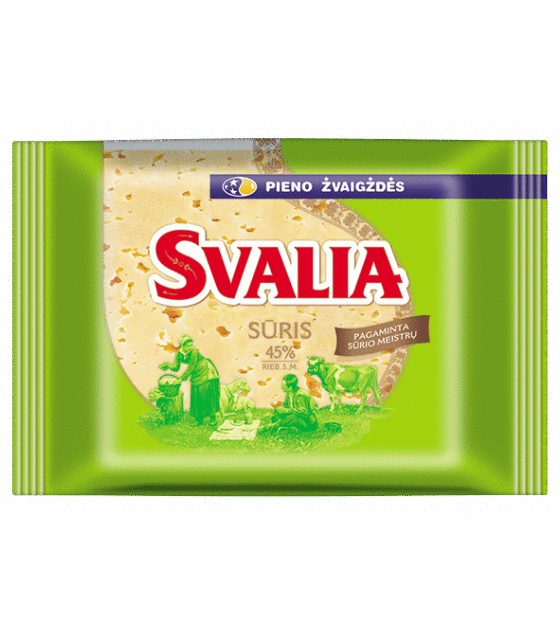 "SVALIA ""Tilsiter"" Semi Hard Ripened Cheese Pieces 45% - 250g (exp. 23.08.19)"