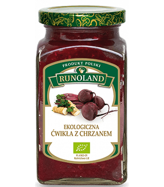 RUNOLAND ORGANIC Red Beetroot & Horseradish Relish - 300g (exp. 10.07.21)
