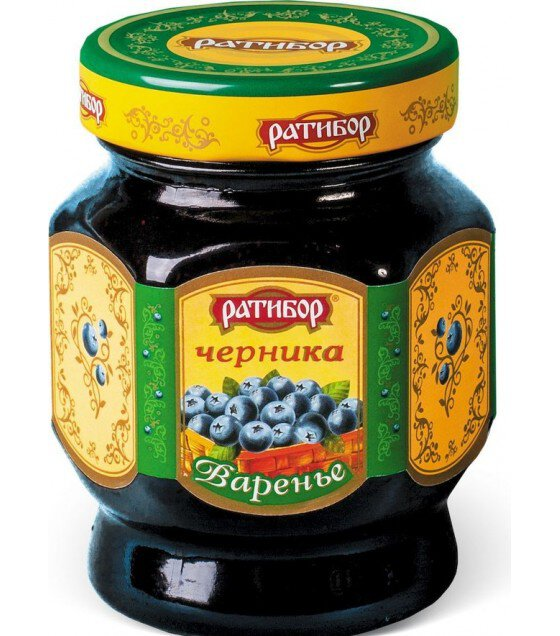 "Preserve Blueberry ""Ratibor"" - 400g - (exp. 17.12.20)"