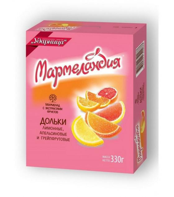 "UDARNITSA Marmelade ""Little Orange, Lemon and Grapefruit Segments"" ""Marmelandya"" - 330g (best before 25.12.21)"