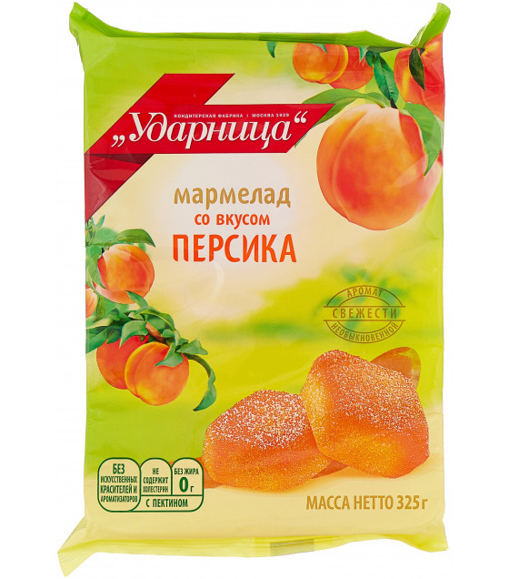 "UDARNITSA Gumdrops ""Peach-Flavored"" - 325g (best before 25.12.21)"