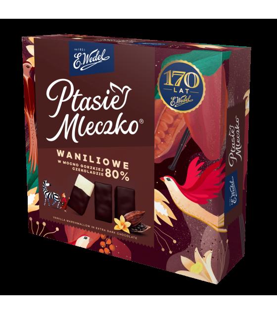 "E.Wedel ""Ptasie Mleczko"" Vanilla Marshmallow in Extra Dark Chocolate - 360g (best before 28.10.21)"