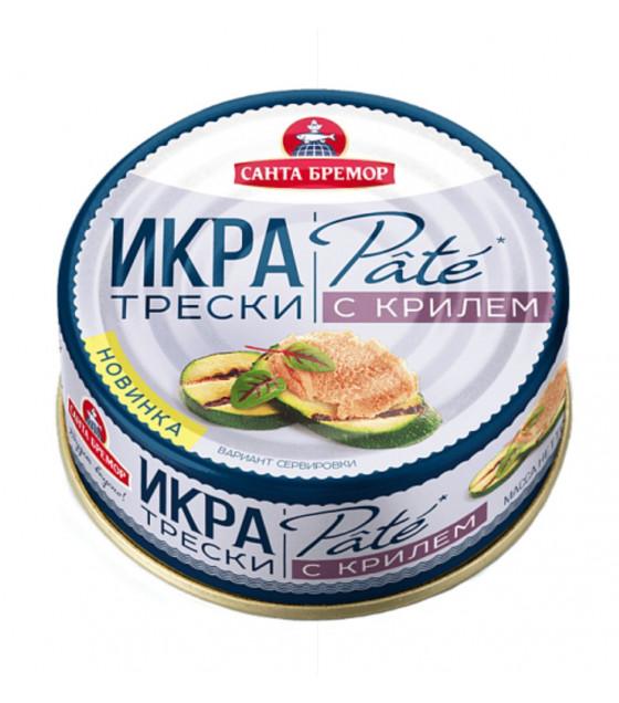 "SANTA BREMOR Atlantic Cod Caviar with Krill ""PATE"" - 90g (best before 13.02.22)"