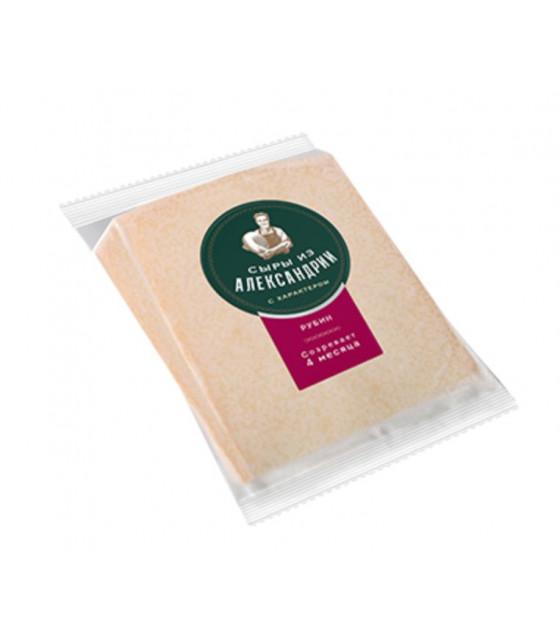"SAVUSHKIN Hard Cheese ""Syry iz Aleksandrii"" ""Rubin"" 50-65% fat (4 months) - 200g (best before 26.09.21)"