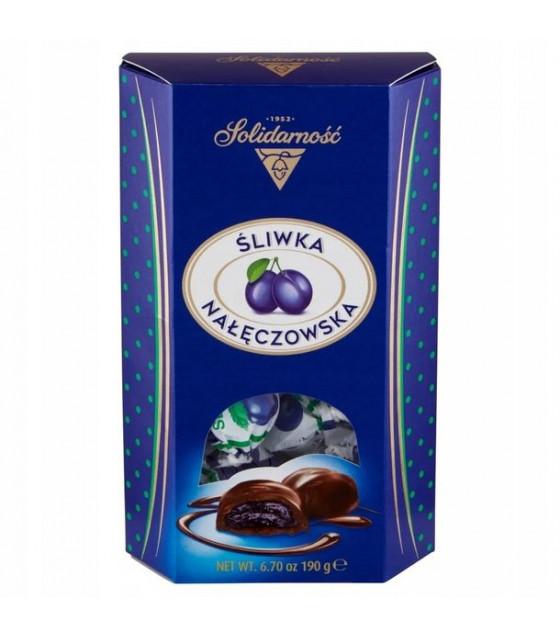 SOLIDARNOSC Candies SlIWKA NALECZOWSKA chocolate coated  - 190g (best before 19.12.21)