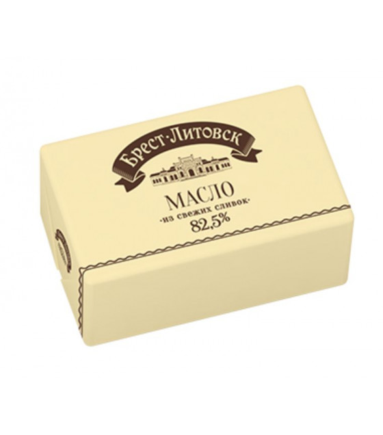 "SAVUSHKIN  Sweet cultured cream butter non-salted ""Brest-Litovsk"" 82,5% fat - 180g (best before 17.10.21)"
