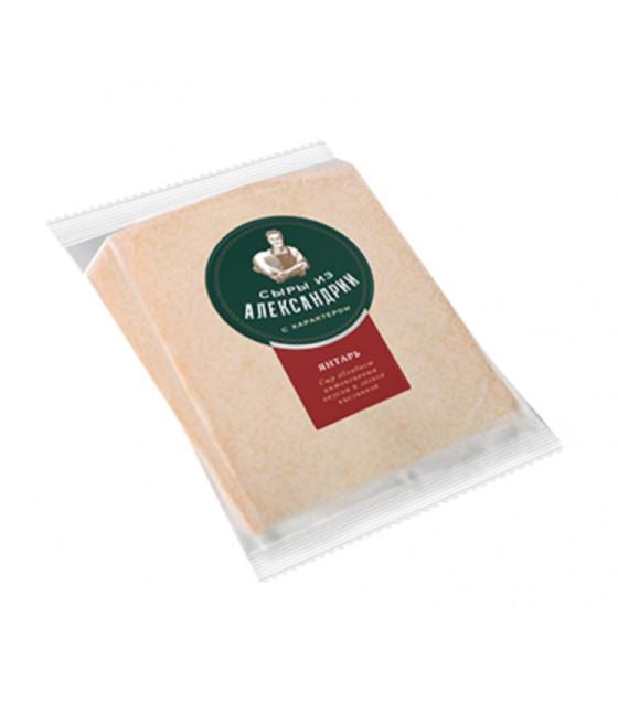 "SAVUSHKIN Hard Cheese ""Syry iz Aleksandrii"" ""Yantar"" 50-65% fat (2 months) - 200g (best before 13.10.21)"