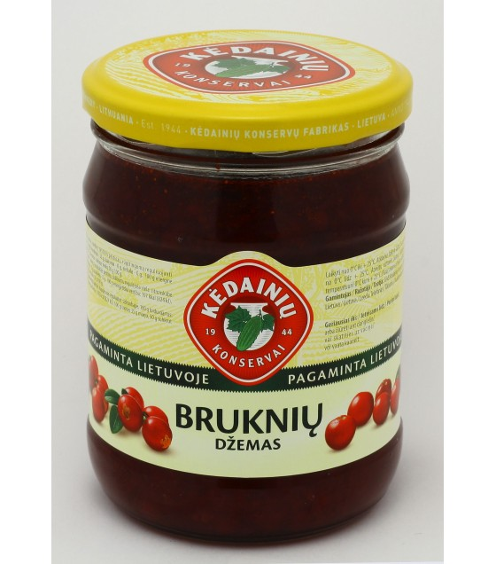 "Red Bilberry Jam ""Kedainiu"" - 540g (exp. 21.04.20)"