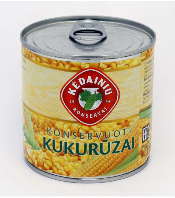 KEDAINIU Canned sweet corn - 340g/285g (exp. 12.08.22)