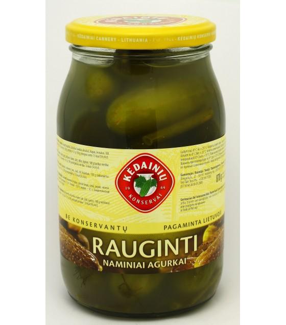 "Fermented cucumbers ""Rauginti"" - 0.9 kg 俄式風味鹽醃青瓜 - 0,9kg (exp. 07.09.20)"