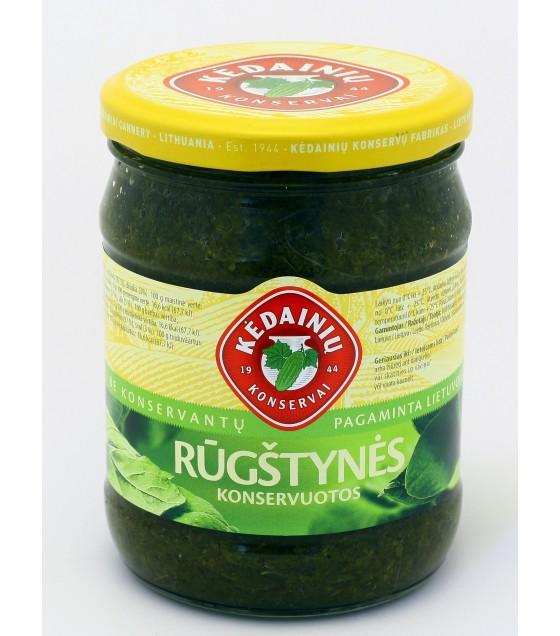 Canned sorrels - 0.48 kg/ 醃漬酸模菜 - 0,48kg (exp. 11.12.20)