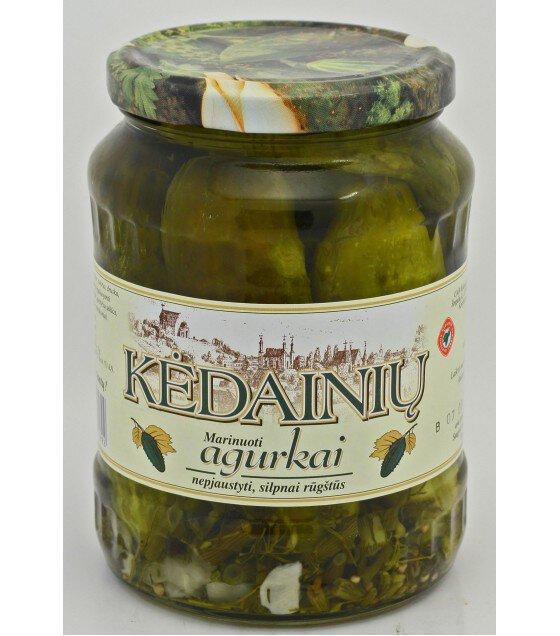 """Pickled cucumbers  """"Kedainiu"""" - 0.7 kg."""