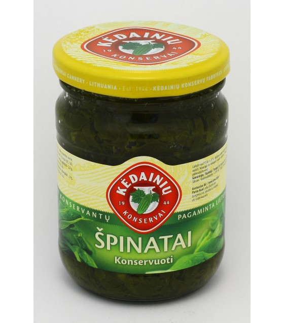 Canned spinach - 0.25 kg.