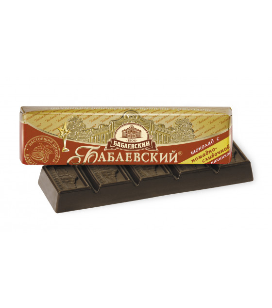 "Dark Chocolate Bar ""Babayevskiy"" with cream filling - 50g (exp. 01.03.19)"