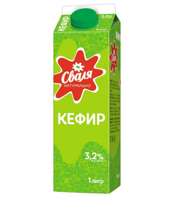 "Kefir ""SVALIA"" 3,2% fat - 1L (exp. 14.06.18)"