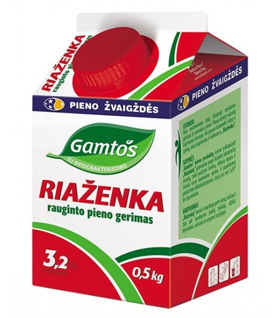 RYAZHENKA probiotic drink 3.2% fat - 0.5 kg 俄式熟酸乳 - 脂肪3.2% - 0,5kg