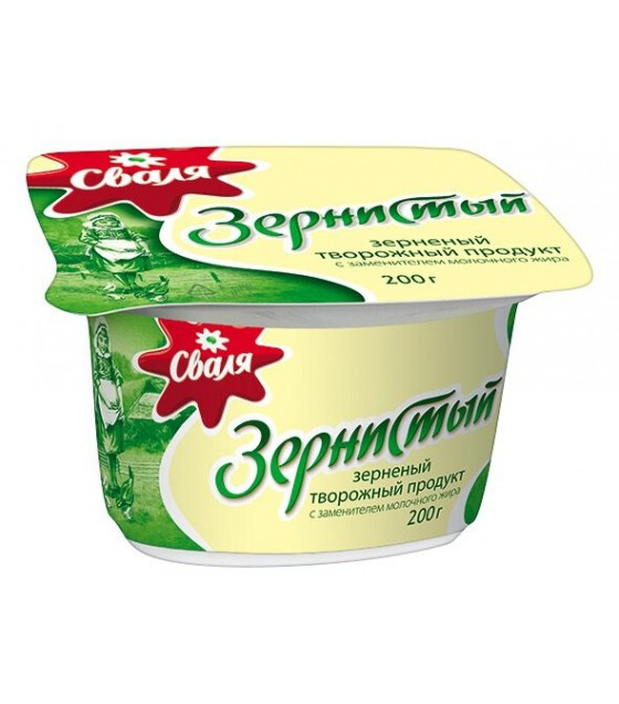 "Cottage cheese ""SVALIA"" 7% fat - 200 g  SVALIA牌 茅屋芝士粒, 脂肪7% 200 g"