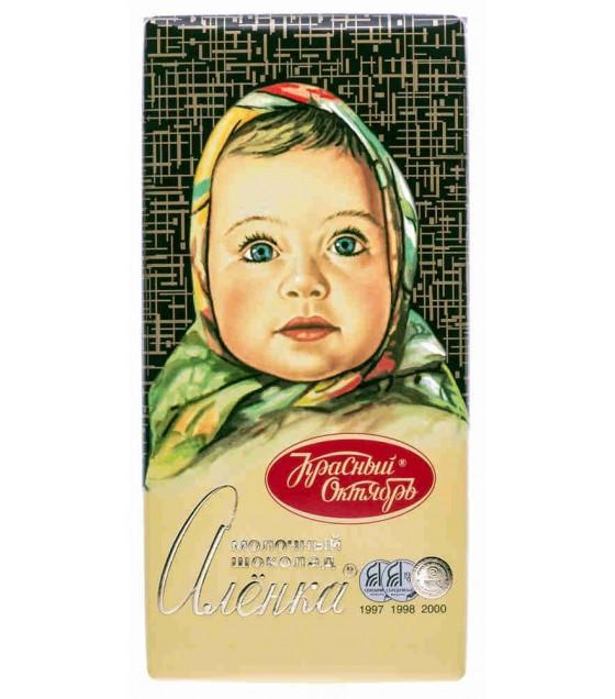 "Milk Chocolate Bar ""Alenka"" - 100 gr. (exp. 30.08.19)"