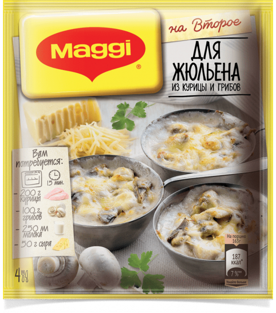 """Maggi"" On Second Mix for Cooking Julienne with Mushrooms and Chicken - 26 g. (exp 12.10.19)"