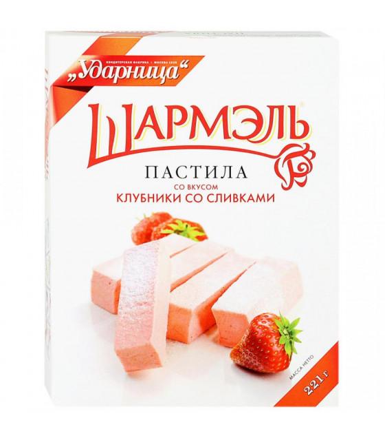 "UDARNITSA Pastila ""Strawberry and Cream Flavour"" ""Sharmel"" - 221g (best before 25.12.21)"