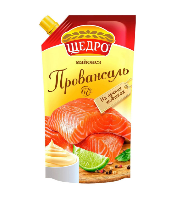 """TCHEDRO Mayonnaise """"Provansal"""" 67% - 350g (best before 31.01.22)"""