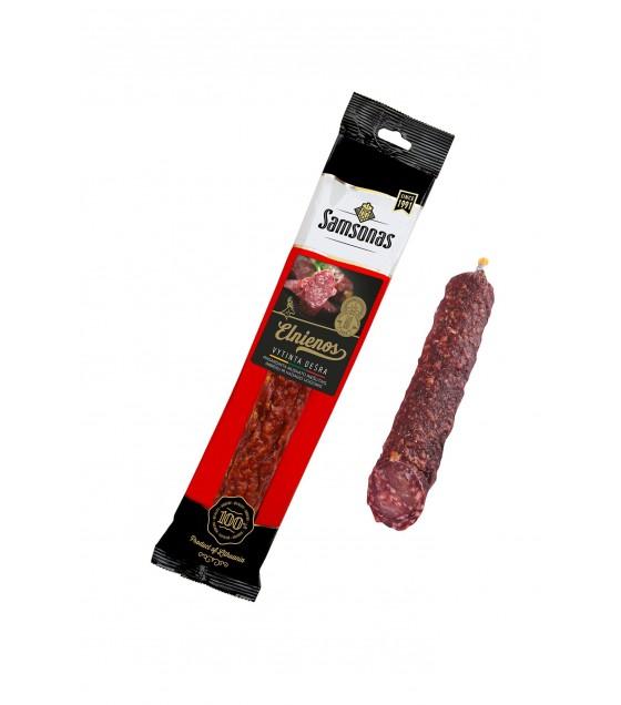 "SAMSONAS ELNIENOS Cold Smoked  Sausage ""Venison"" - 200g (exp. 08.06.19)"