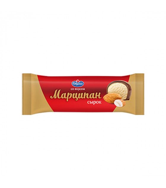 "SAVUSHKIN Glazed Curd Cheese Bar ""Marzipan"" 23% fat - 40g (best before 13.12.20)"