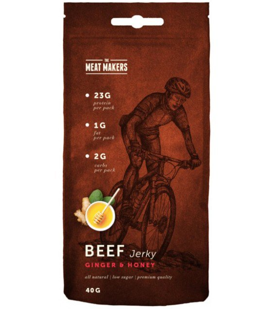 TMM Active Jerky - Beef Ginger & Honey - 0.040 kg/TMM牌 運動夥伴系列姜蜜味牛肉乾- 0,040 kg (exp. 02.01.20)