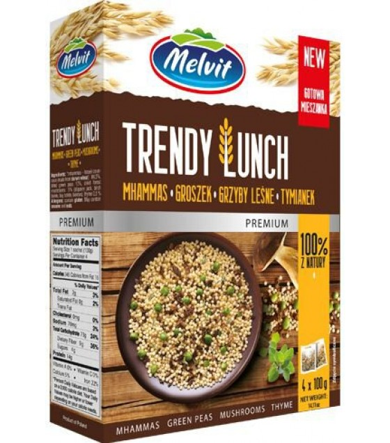 MELVIT Trendy Lunch Mhammas, Green peas, Mushrooms, Thyme - 4x100g (exp. 01.04.22)