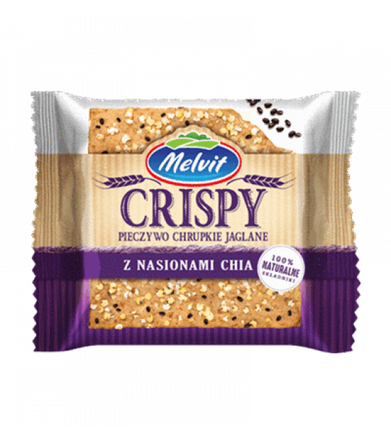 MELVIT Wholegrain Millet Crispbread with Chia Seeds - 100g (exp. 17.03.20)