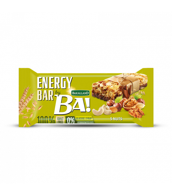 "BAKALLAND Energy Bar ""BA!"" 5 Nuts - 40g (exp. 30.06.20)"