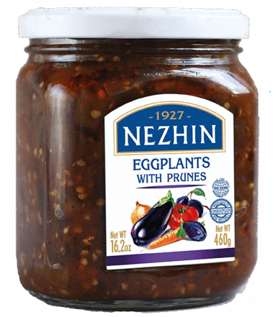 NEZHIN Canned Eggplants with prunes - 460g (exp. 03.10.21)