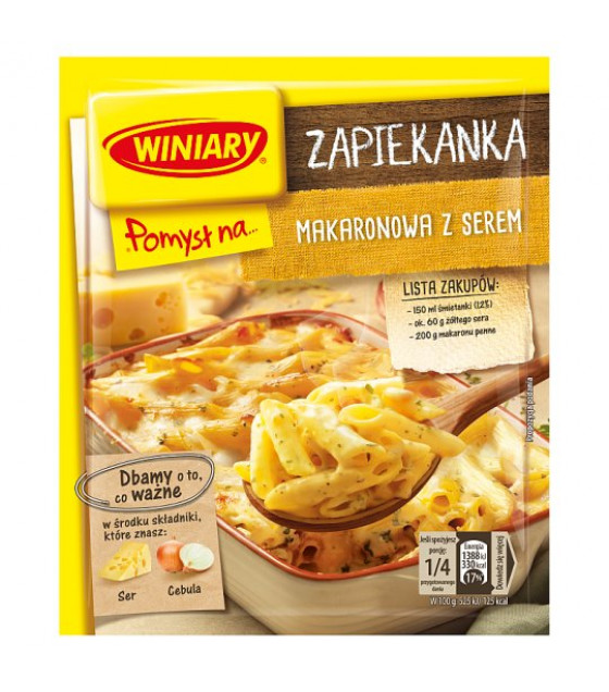 WINIARY Mix for Cooking Pasta with Cheese - 47g (best before 01.03.21)