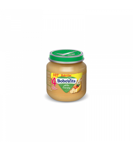 NUTRICIA BoboVita Baby Puree with Apples and Bananas (from 4 months) - 125g (best before 04.11.21)