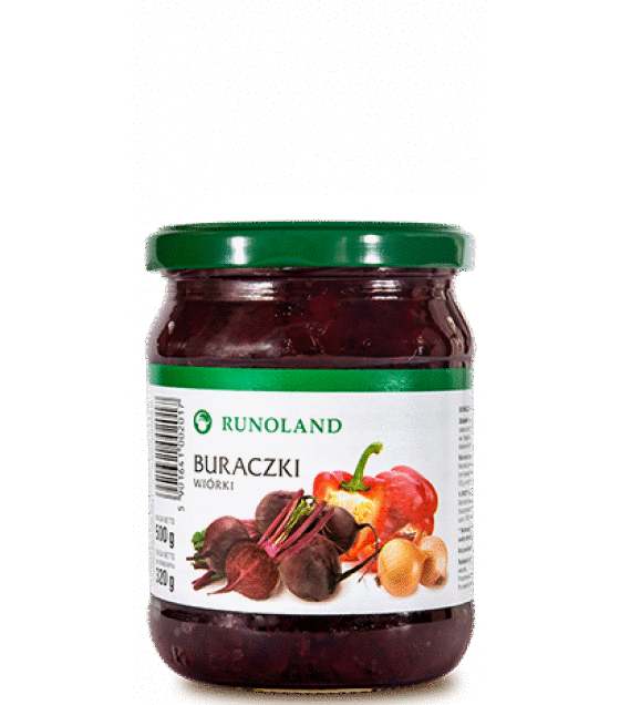 RUNOLAND Beetroots shreds - 320g/500g (exp. 10.01.21)