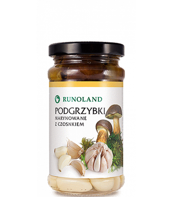 RUNOLAND Bay Bolete Pickled Wild Mushrooms with garlic - 220g/130g (exp. 10.01.21)