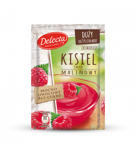 BAKALLAND Raspberry Water-based pudding (Kisiel) - 58g (best before 30.11.21)