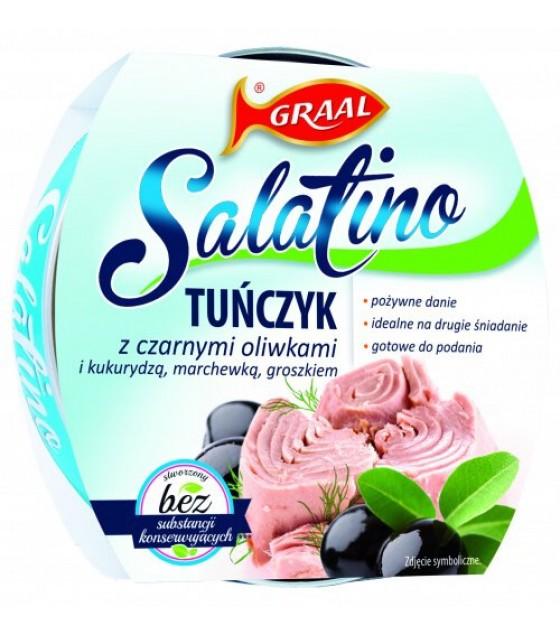 GRAAL Tuna Salad with Black Olives - 160g (exp. 01.12.21)