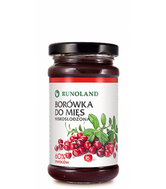 RUNOLAND Lingonberry Preserve low sugar - 220g (best before 10.02.22)