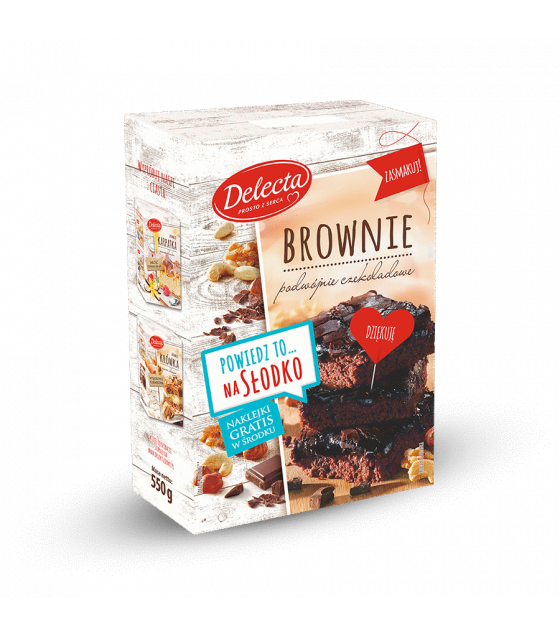BAKALLAND Brownie Cake Baking Mix - 550g (best before 01.11.21)