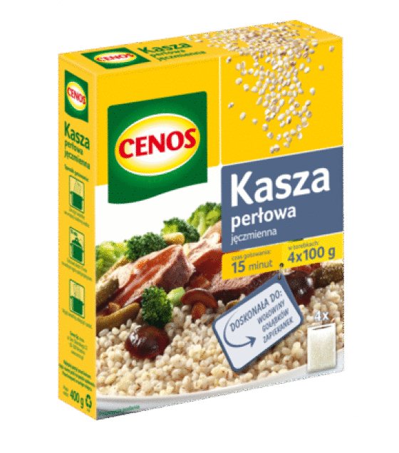 CENOS Pearl Barley (4 x 100g) - 400g (exp. 03.02.20)
