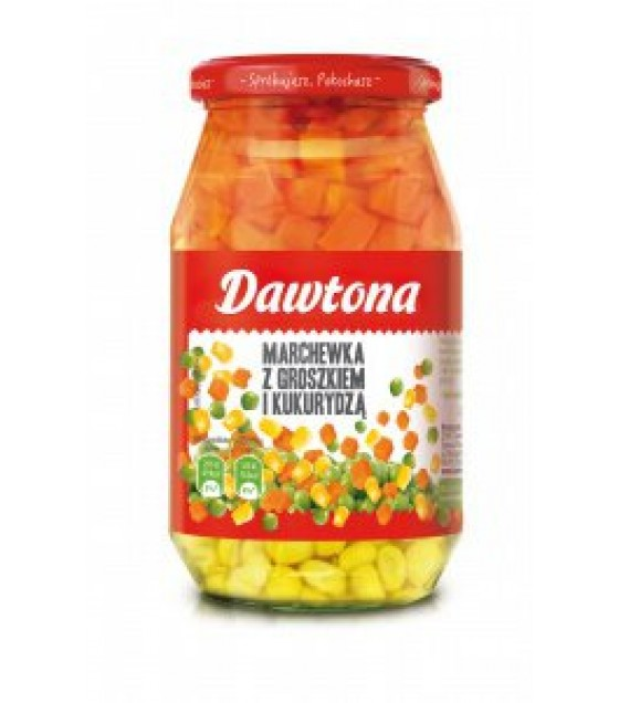 DAWTONA Carrots, Peas and Corn - 510g (exp. 03.12.20)