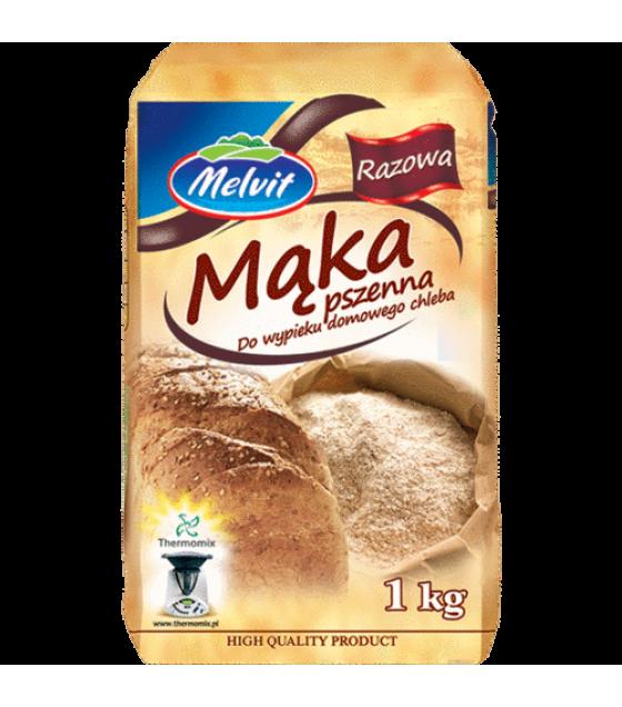 MELVIT Wholemeal Wheat Flour (Razowa Pszenna) - 1kg (exp. 03.02.20)