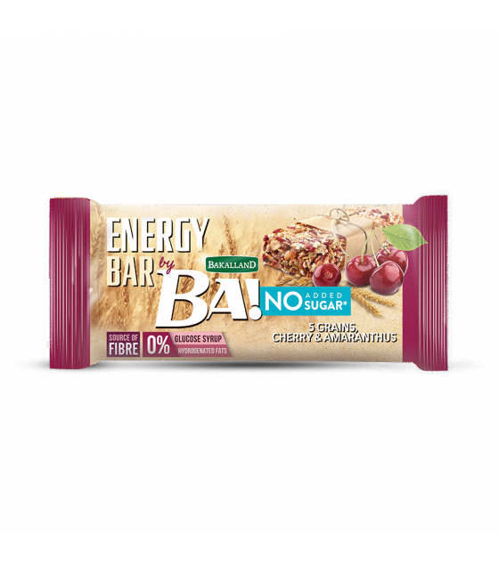 "BAKALLAND Energy Bar ""BA!"" Cherry and Amaranthus, No Sugar - 30g (exp. 30.04.20)"