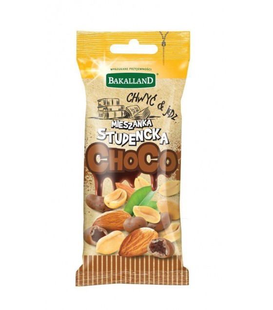 BAKALLAND Snack Student Mix with Nuts in Chocolate - 50g (exp. 30.06.20)