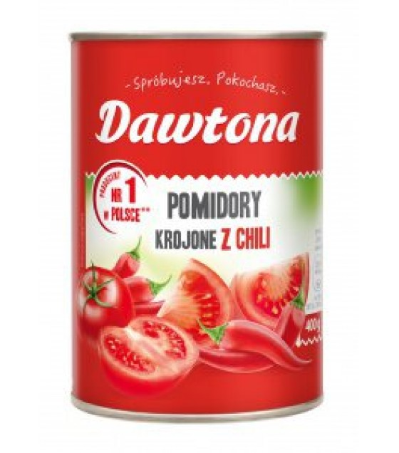 DAWTONA Diced Tomatoes with Chilli - 400g (exp. 20.02.20)